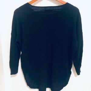 Madewell black knit crewnwck sweater S